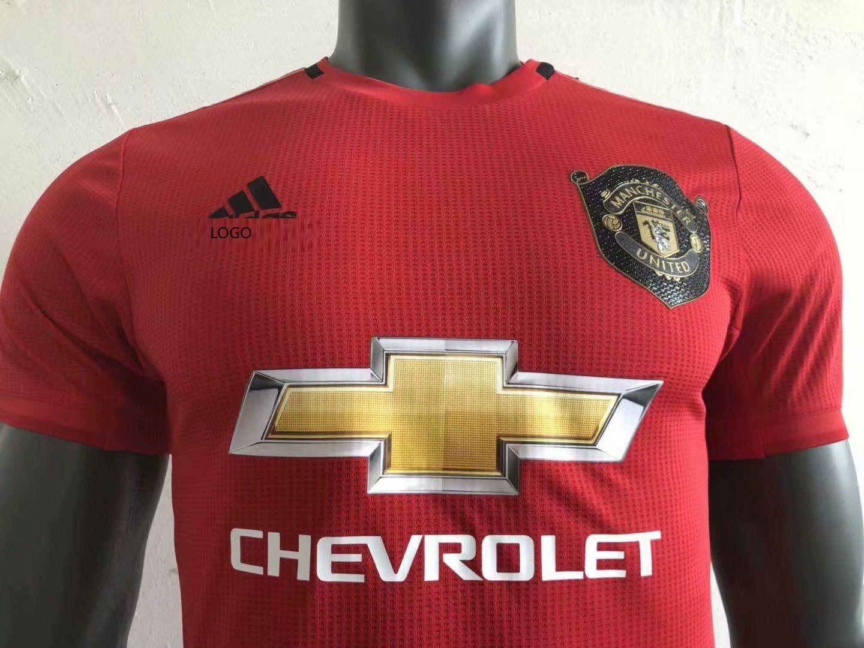19 20 Men Manchester United Red Player Version Soccer Jersey Red Football Shirt Soccer Jersey Football Shirts