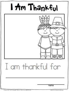 Thanksgiving Writing for Kindergarten   Kindergarten writing ...