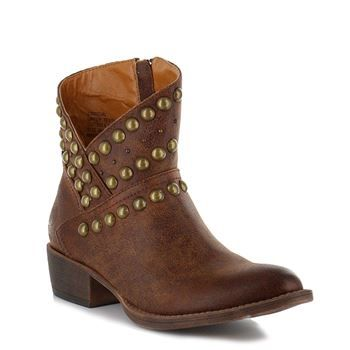 Coconuts by Matisse Womens Cowgirl Stud Booties