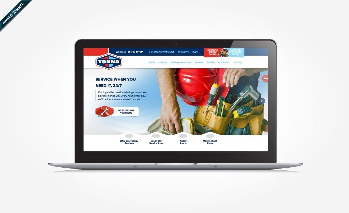 Tonna Mechanical Kickcharge Creative Website Design Portfolio