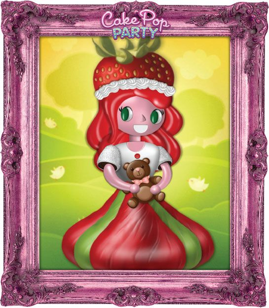 Strawberry Girl! (Cake pop party, cake pops, design app, top kid app, creative app, iPad, ingredients, party)