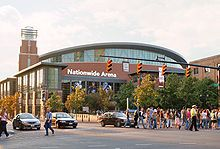 Nationwide Arena, home of the Columbus Blue Jackets.