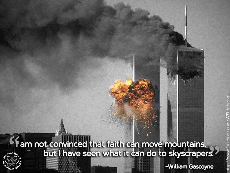 I am not convinced that faith can move mountains, but I have seen what it can do to skyscrapers.