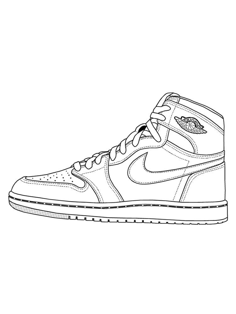 Shoes Coloring Page The Following Is Our Collection Of Shoes Coloring Page You Are Free To Download And Sneakers Illustration Sneakers Drawing Shoes Drawing