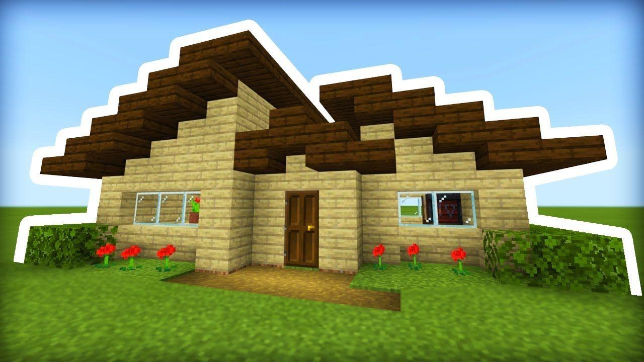 Minecraft Tutorial: How To Make A Modern Wooden Survival ...