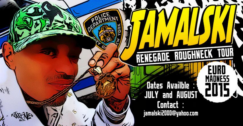 Création by JeeOne Prod. (Flyer, Special Event) pour MC Jamalski. (MC Raggamuffin Hip-Hop Legend / NYC, USA)