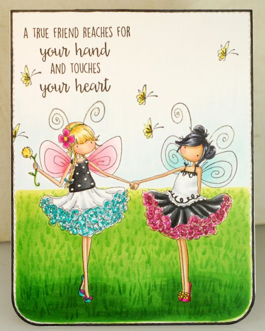 Spotted On Sunday: Amy Young's Fairy Best Friends Card   stamping bella