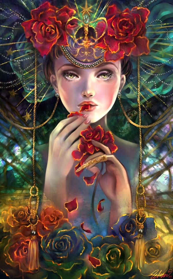 The rose eater - View the website Posted in Illustrations using the Tags: Digital Portraits, fantasy, Schin Loong