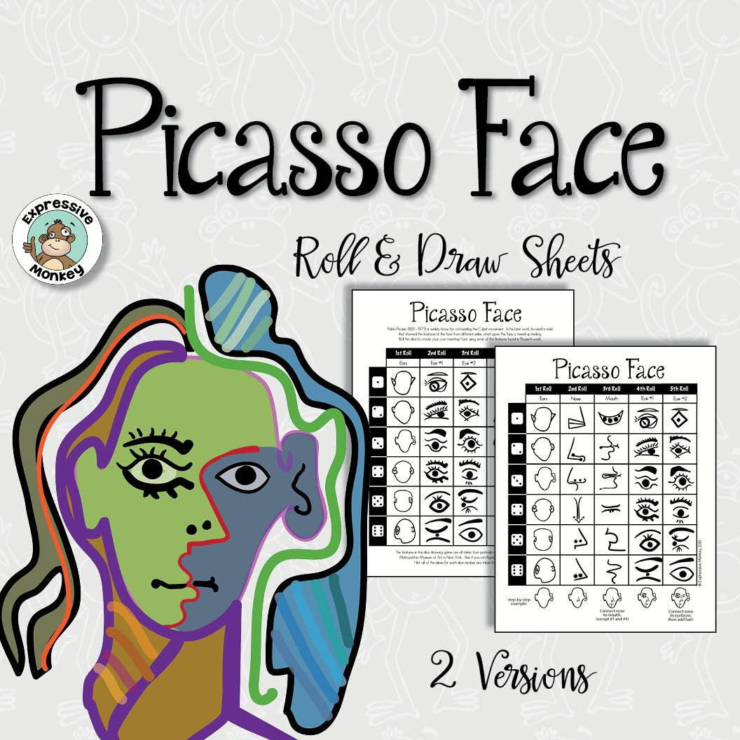 Picasso Face Roll Amp Draw Activity