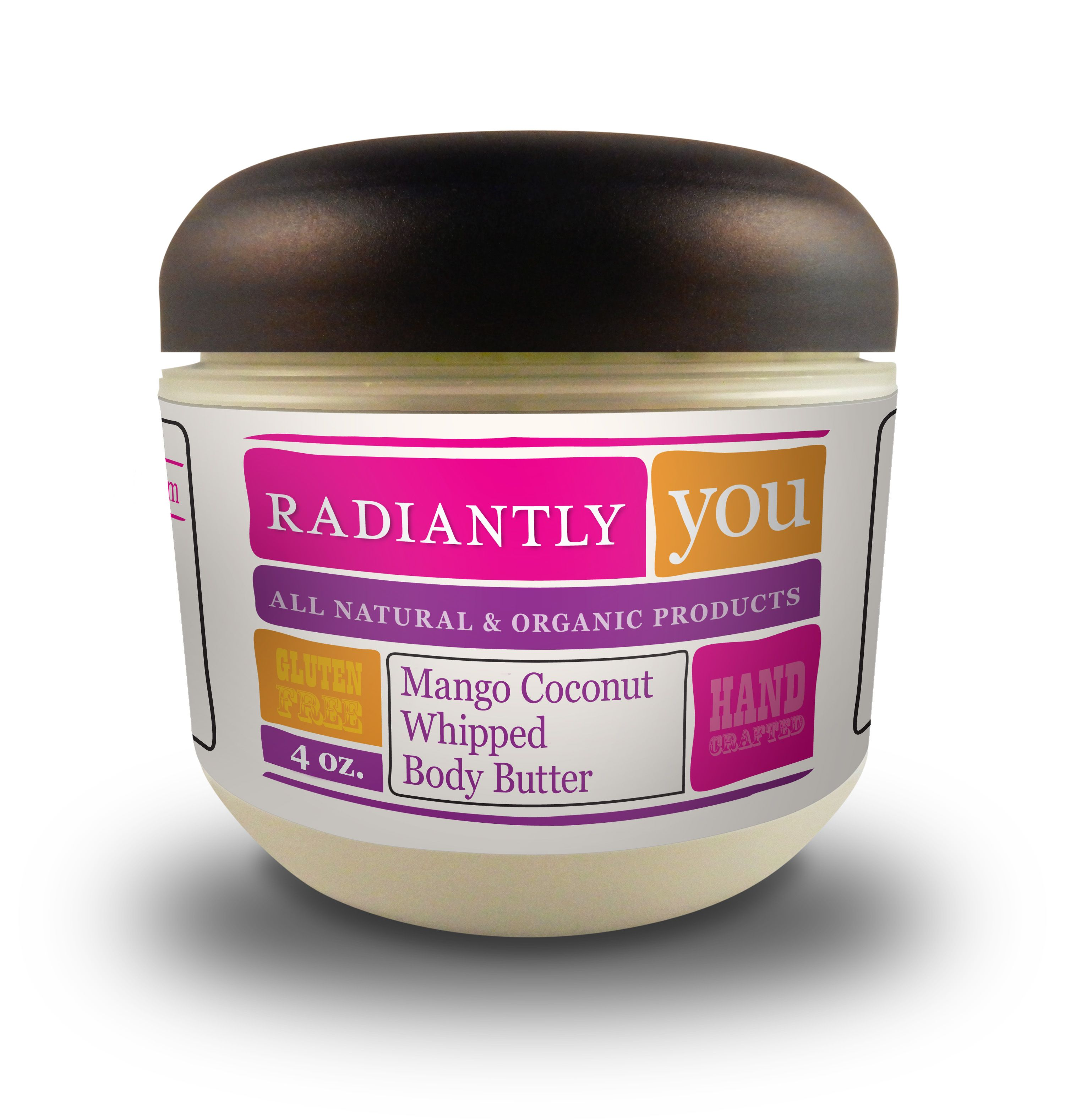 Send yourself to your favorite tropical island every time you lather your skin with this fabulous Mango Coconut Whipped Body Butter! The scent is amazing and transports you in seconds to a sunny beach. You won't find a better body butter out there! Nourish your skin with only the finest ingredients!    Nourishing you with: Unrefined Shea Butter*, Expeller-Pressed Coconut Oil*, Mango Coconut Fragrance Oils*  *Certified Organic