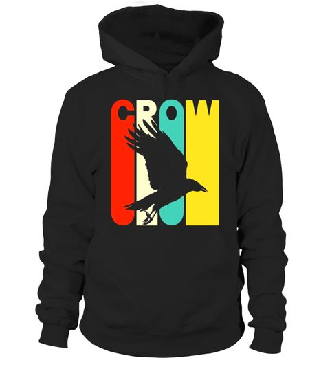 # Vintage Style Crow Silhouette T-Shirt . Special Offer
