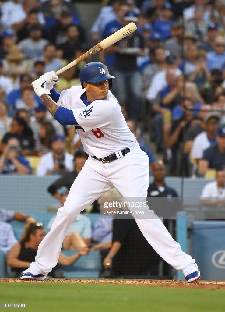 Manny Machado Of The Los Angeles Dodgers During His First At Bat At Dodgers Dodgers Baseball Baseball