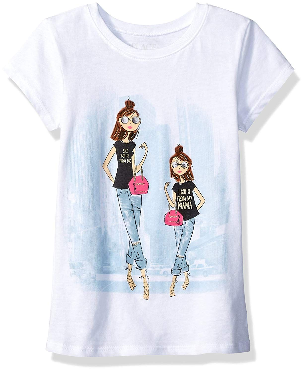 d967fe719 The Children's Place Big Girls' Short Sleeve Graphic Tee | girls ...