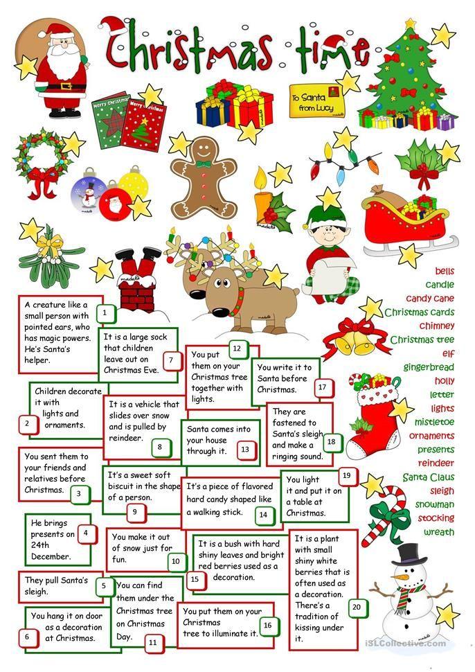 Christmas time Christmas games Christmas worksheets