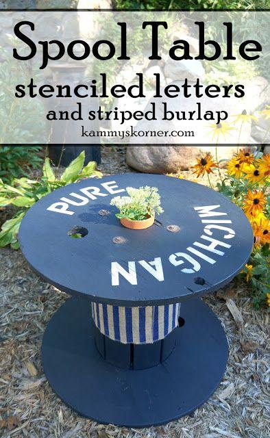 Pure Michigan Wood Spool Table Kammys Korner Wood Spool Tables