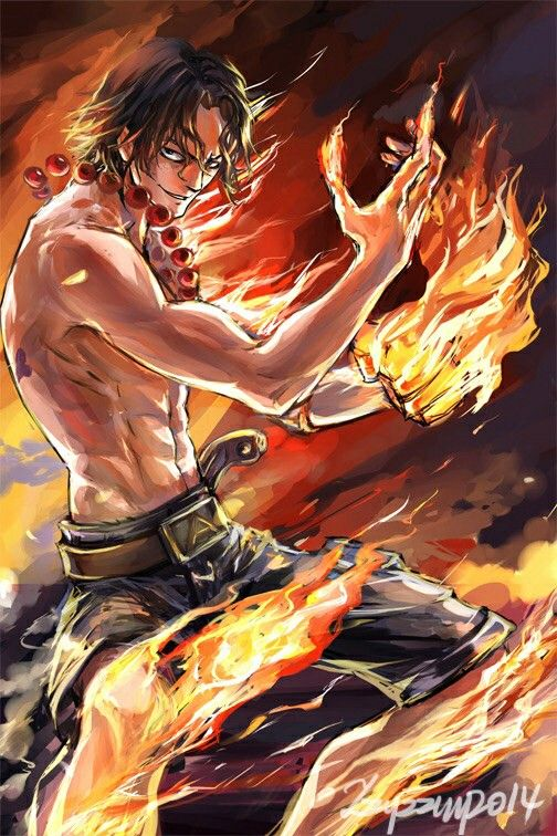 Portgas D Ace Fire Angry Cool One Piece One Piece Ace One