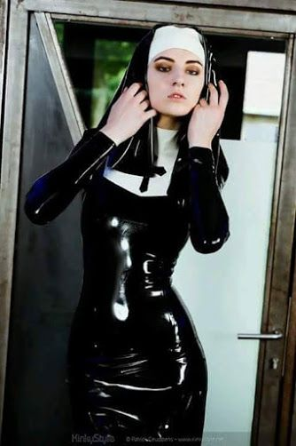 Latex nun costume