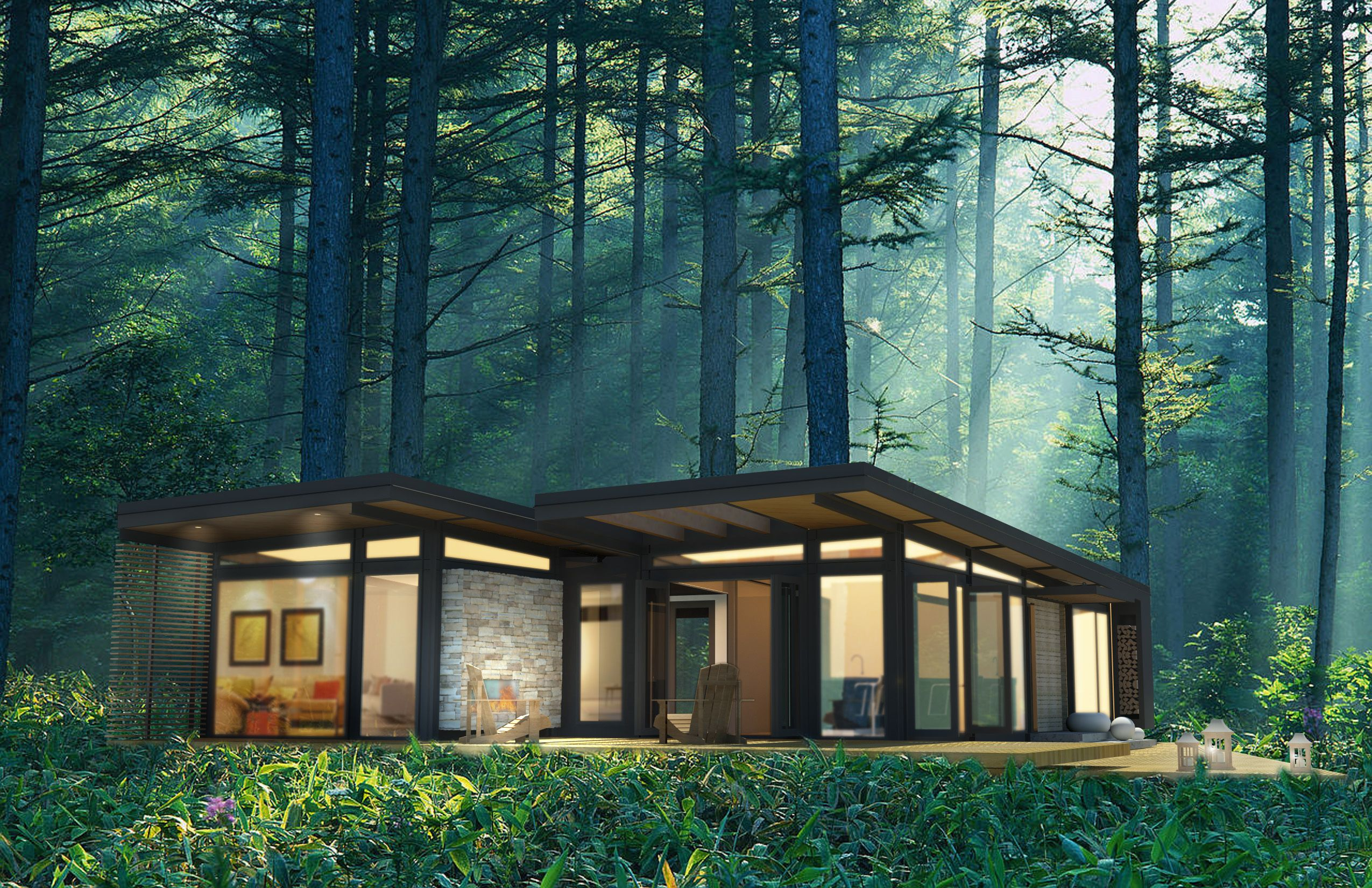 Pre Fab Cabins. Forest CabinCabin IdeasHouse ...