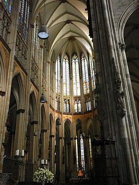 Interior Of Cologne Cathedral Cologne Completed 1332 This Typical Gothic Interior In Germany Shows Three Very Cologne Cathedral Gothic Cathedrals Cathedral