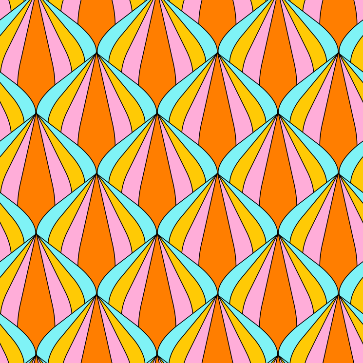 Kinder Madchen Stoff Stoffdesign Retro Blumen Muster 60er 70er Jahre Bunt Rosa Gelb Orange Turkis Blau Ro Print Patterns Retro Illustration Background Patterns