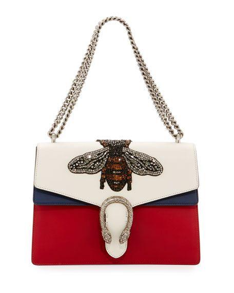 91790d2c9de Dionysus Medium Embroidered Leather Shoulder Bag