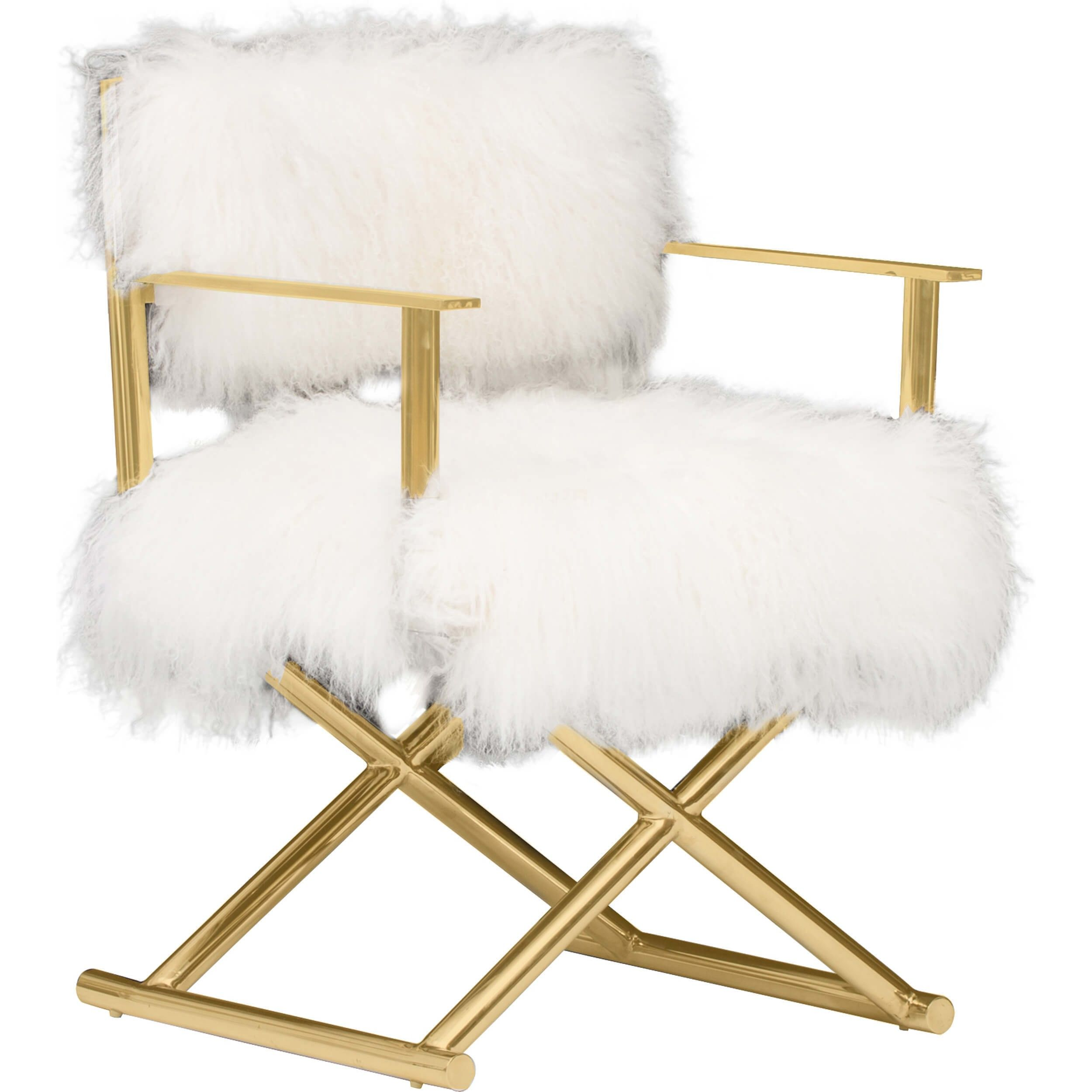 Mongolian Fur Chair Gigi Mongolian Fur Chair Gold Products We Love Chair