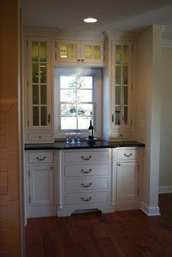 Bar & Mini Bar Areas traditional family room | Nooks and Crannies ...