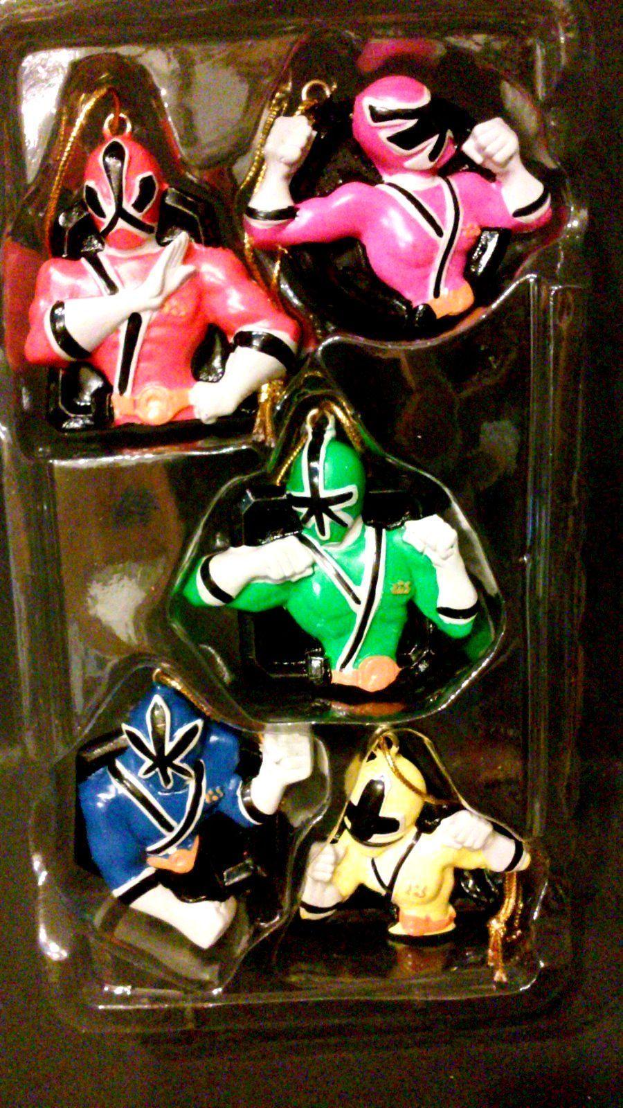 5 piece kurt adler power rangers super samurai christmas tree ornaments new ebay