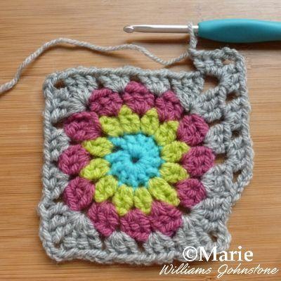 Easy Free Sunburst Granny Square Crochet Pattern | Granny squares ...