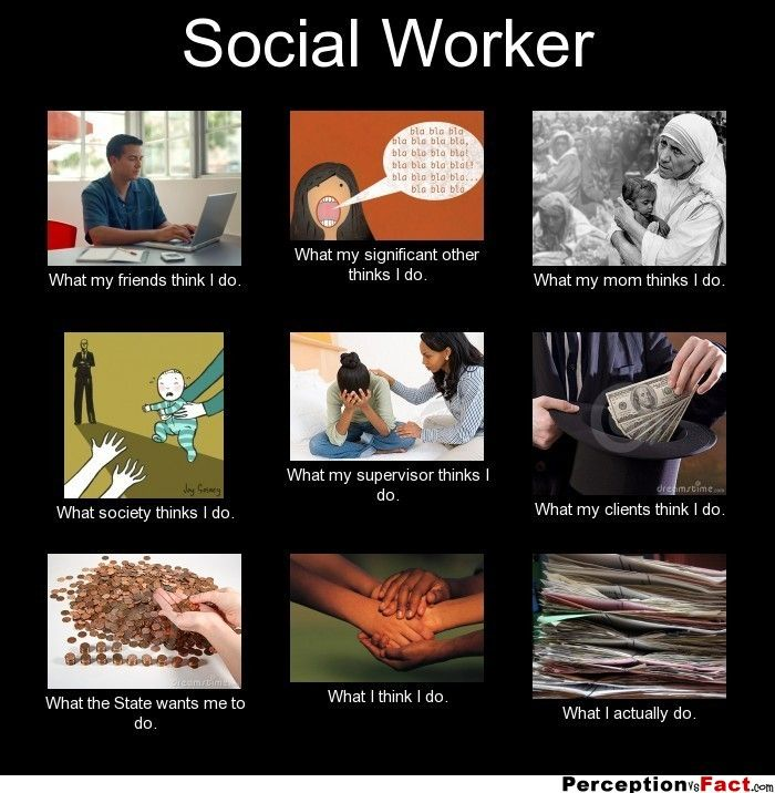social worker - what people think i do, what i really do,