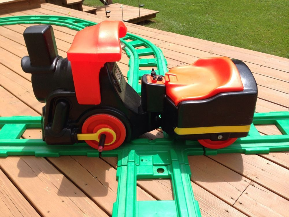Little Tikes Ride On Toys : Little tikes s vintage ride on train org green tracks fig
