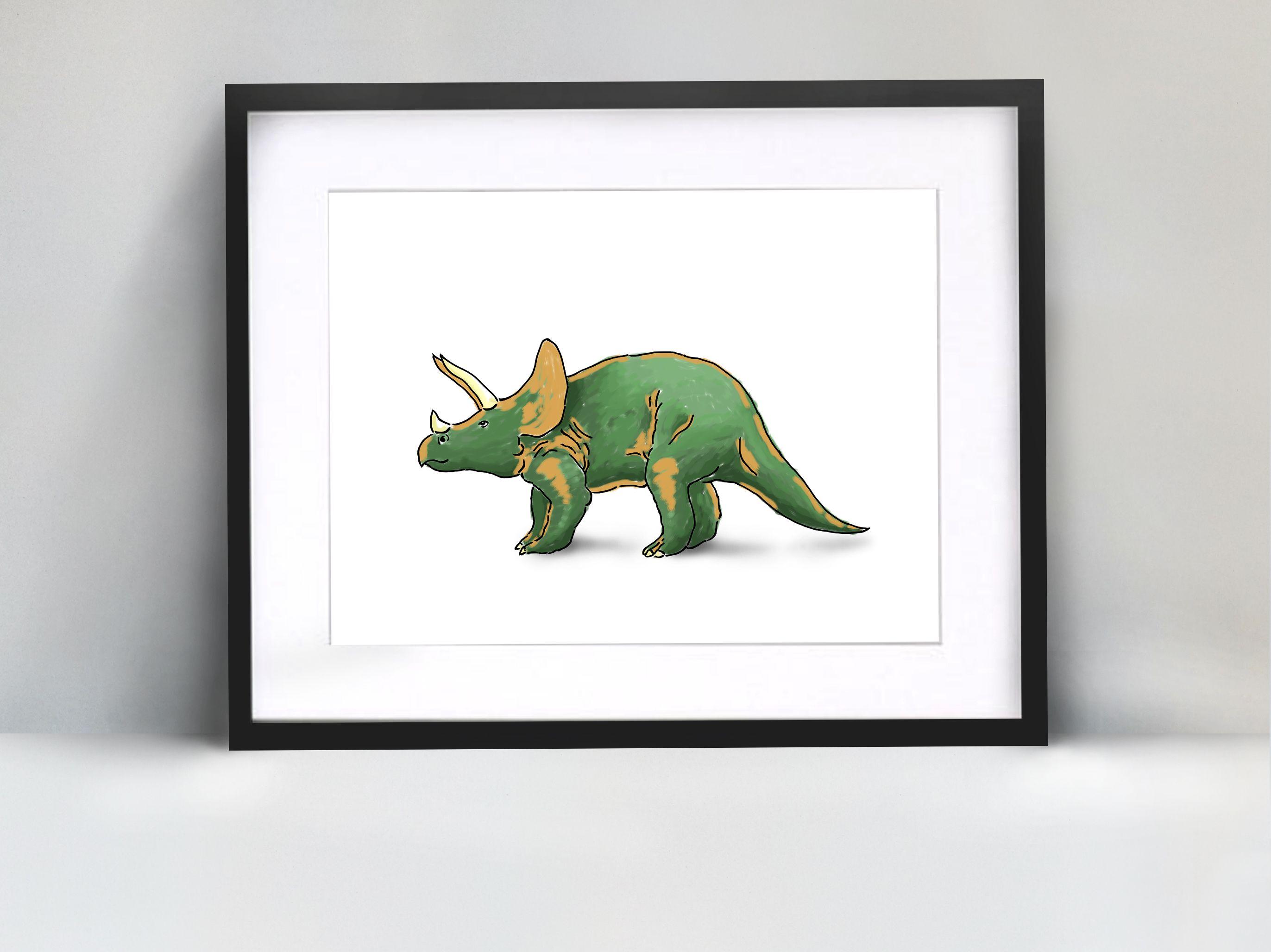 Green And Orange Dinosaur Print Dinosaur Home Decor Digital Art Child Bedroom Kid Play Room Home Decor Wall Art Digital Download Dinosaur Print Dinosaur Home Decor Wall Art
