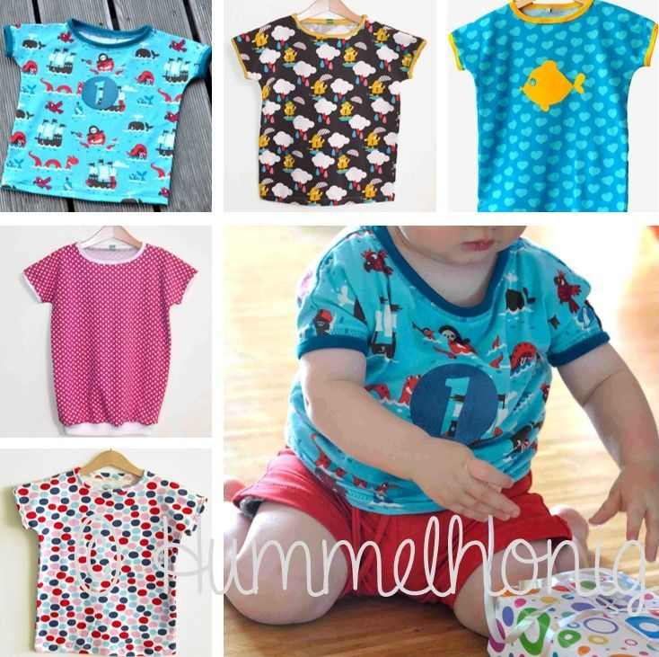 Schnittmuster für superschnelles Kinder-T-Shirt | Kostenlose ...