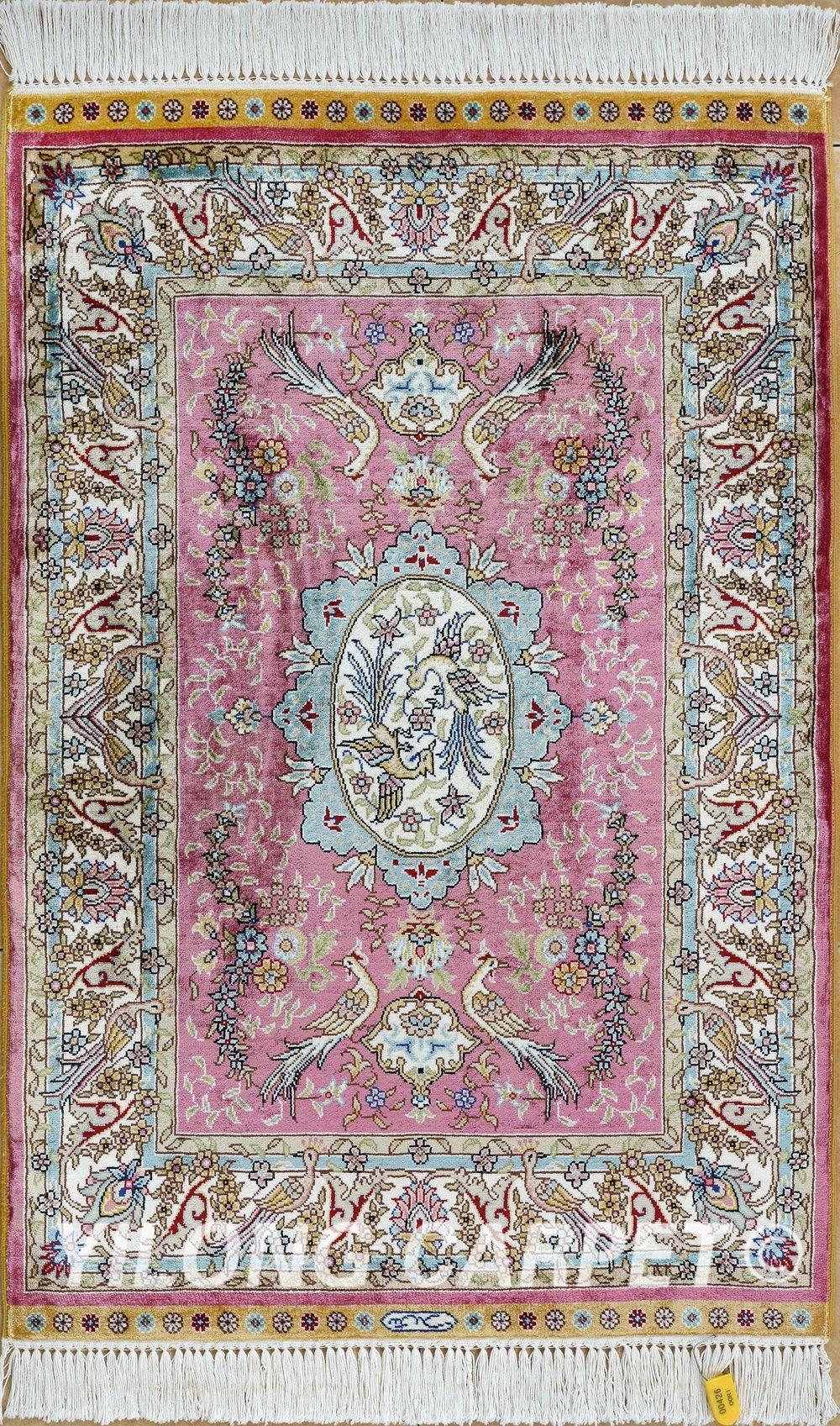 Pink Persian Rug Oriental Turkish Carpet Silk Rug Tabriz Rugs Hereke Area Rugs Materials Silk Technology Pink Persian Rug Carpet Handmade Antique Persian Rug