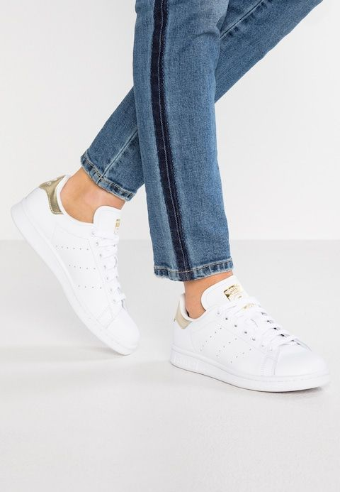 STAN SMITH - Sneakers laag - footwear white/gold metallic ...