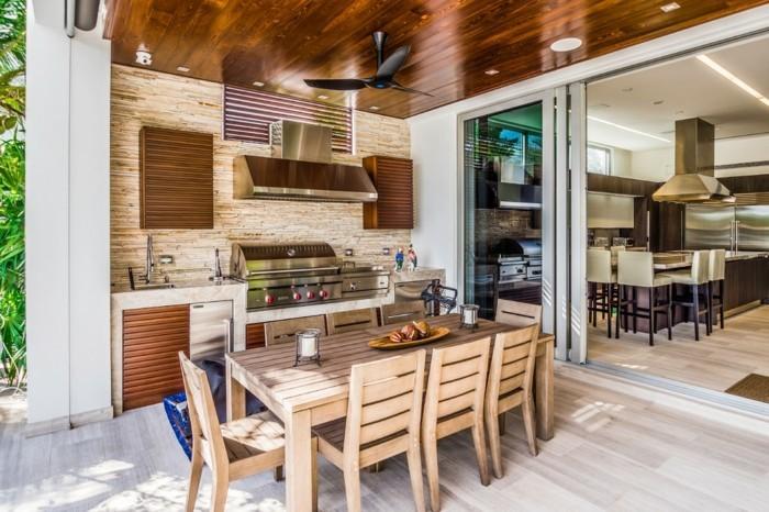 Outdoor Küche macht es möglich, köstliches Essen draußen zu genießen in 2020   Küchen design ...