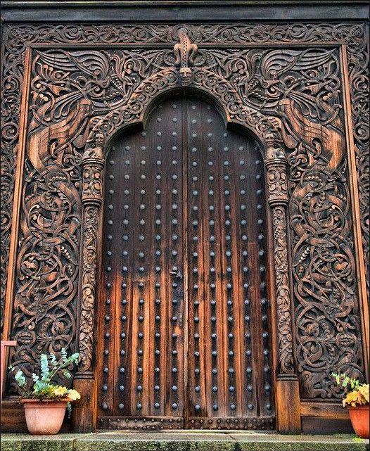 Viking Door Unique Doors Doors Cool Doors