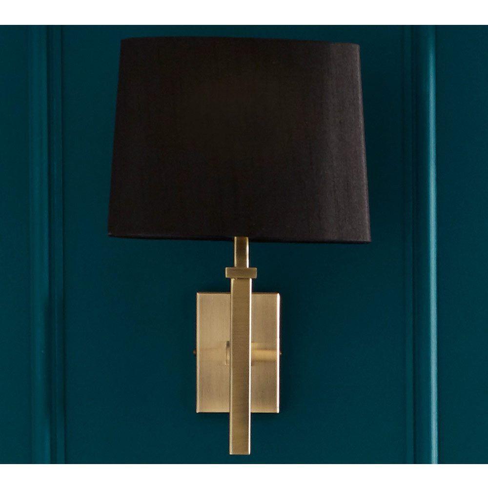 Ledbury Brushed Brass Wall Light In 2020 Wall Lights Black Wall Lights Modern Light Fixtures