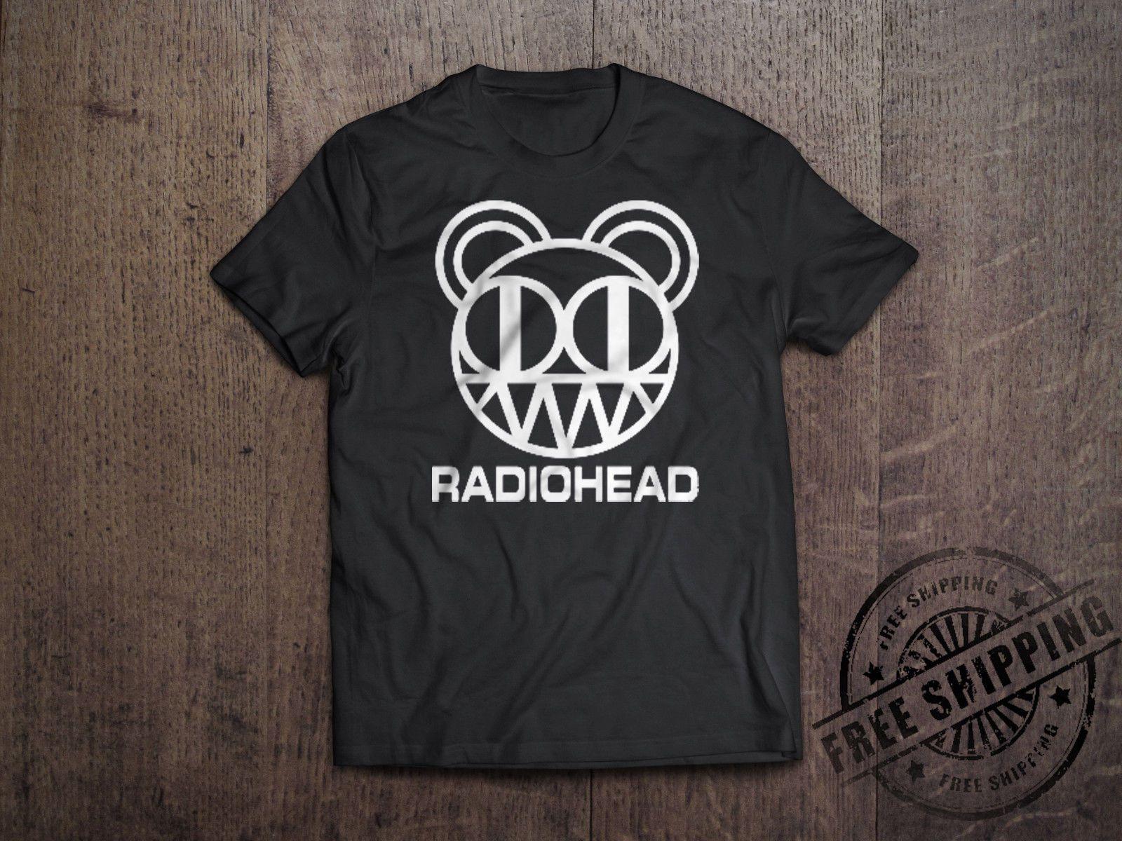 New Radiohead English Rock Band Tour Logo Men/'s White T-Shirt Size S-3XL