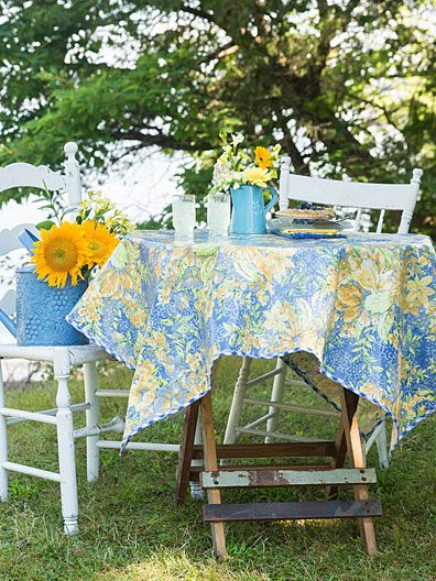 In Full Bloom Oilcloth Tablecloth