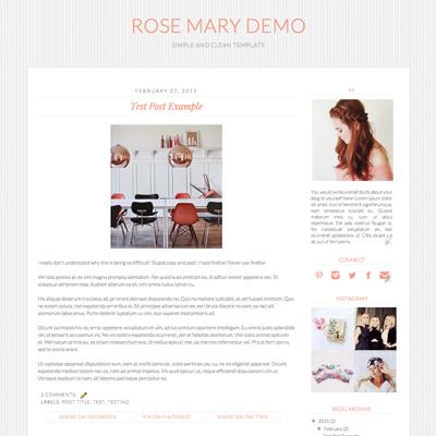 Chic Blogger Templates, Blogger Template, Blog Template, Blog Design ...