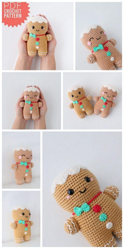 Amigurumi Gingerbread man free crochet pattern – F