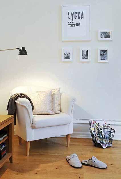 Rincón de lectura contemporáneo interiorismo Pinterest