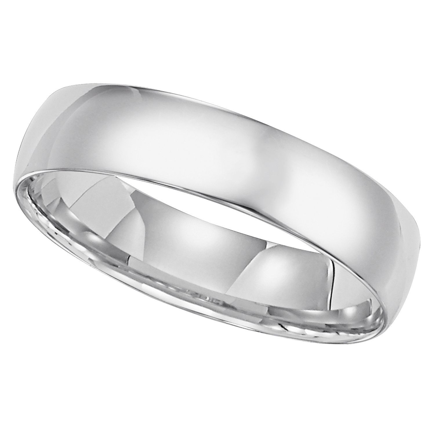 Buy 5mm White Gold Comfort Fit Band in 14K White Gold : Women's Bands at SamsClub.com