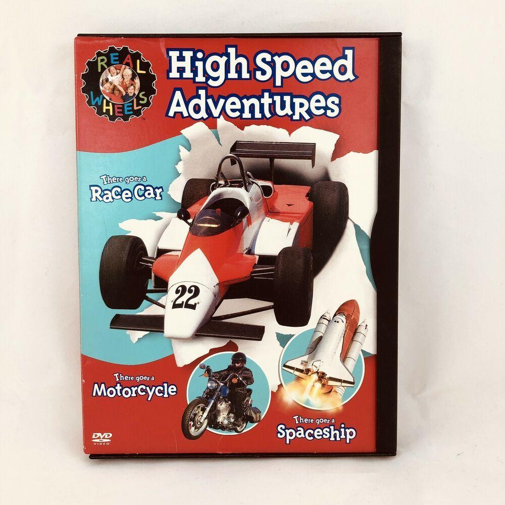 Real Wheels High Speed Adventures Dvd 2004 Race Car Motorcycle Space Ship 85365190023 Ebay Race Cars Motocross Racer Racing