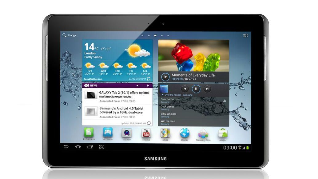 Samsung Galaxy Tab 2 suffering from Ice Cream headache