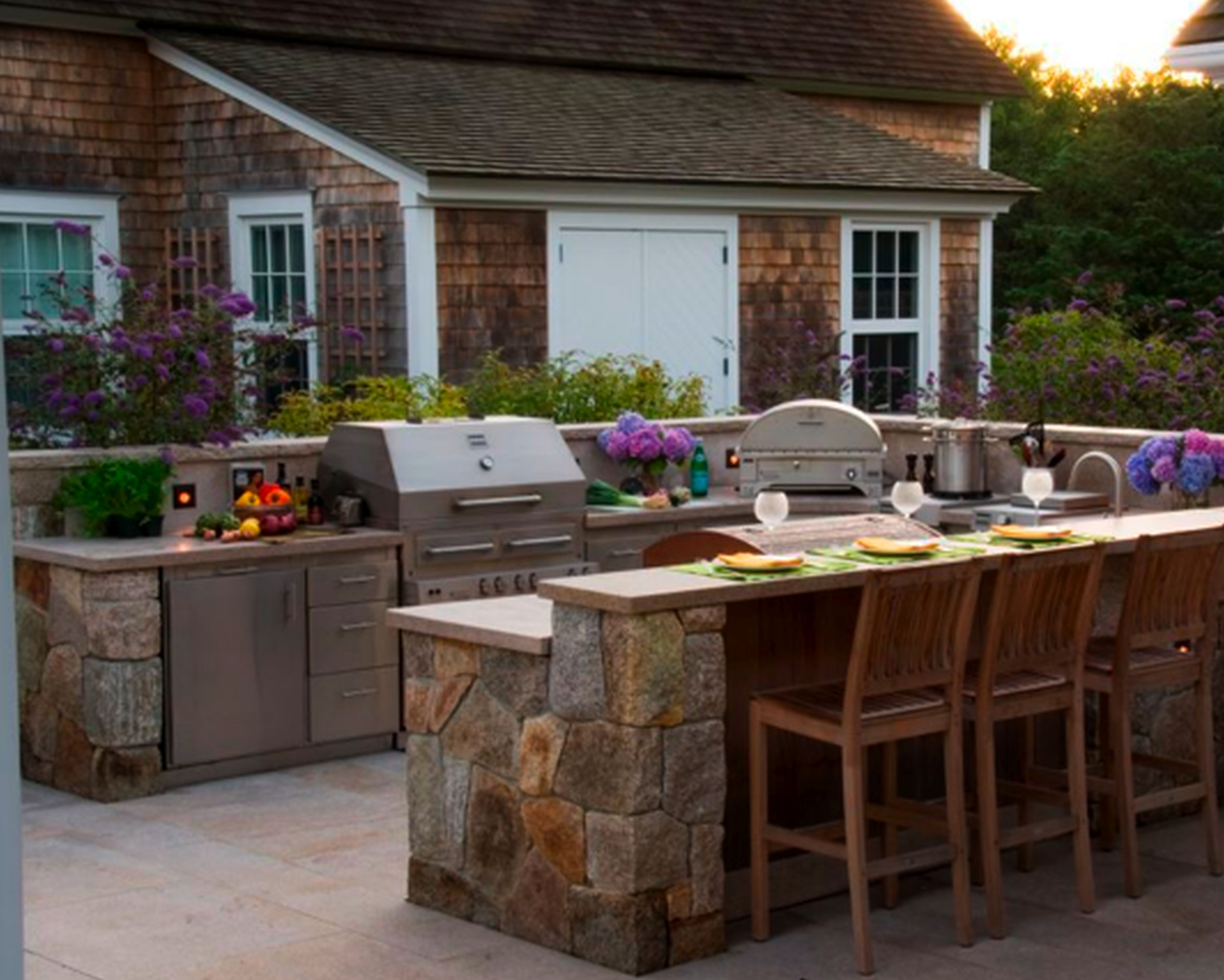 Hypnotic Prefab Outdoor Kitchen Grill Island With Metal Counter S Amazing Outdoor Kitchen Designs Houston Design Decoration