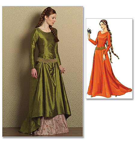 Medieval - Renaissance Gown Pattern by Butterick Making History 4827 ...