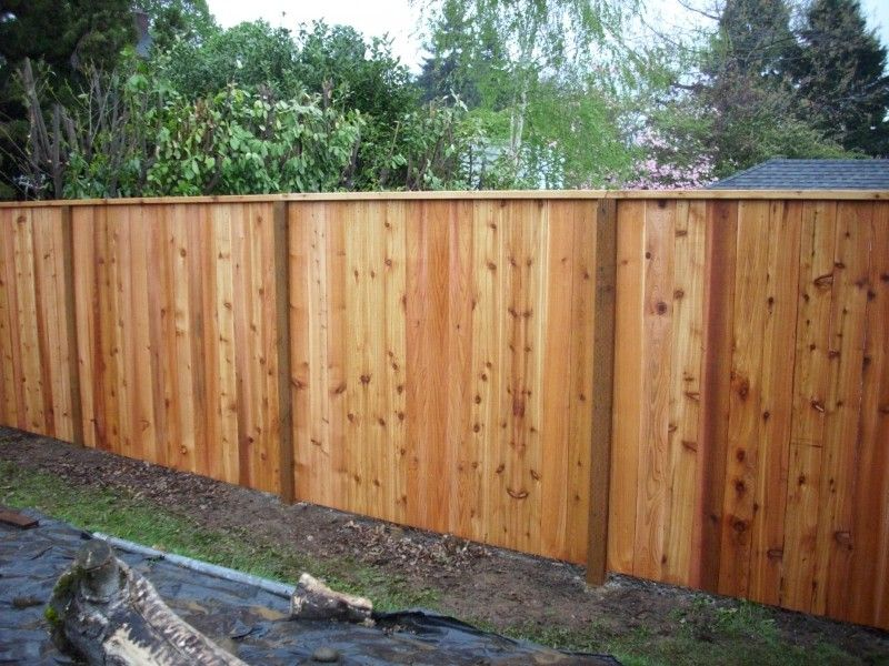Cedar Fence With A Cedar 2x4 Cap House Cedar Fence