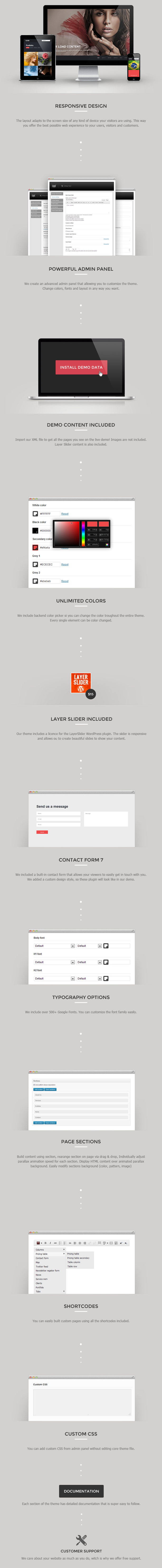 WordPress - Eleven - Wordpress Responsive One Page Parallax ...